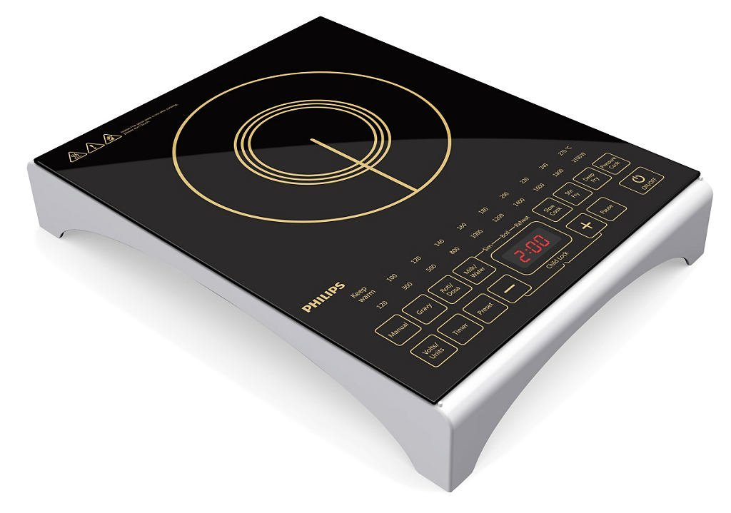 U201cThe Premium Quality Full Glass Panel Of This Philips HD4938/00 Induction  Cooktop Features Sensor Touch Keys For Feather Touch Cooking.