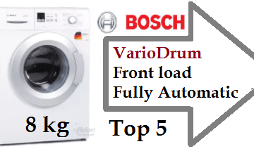 Top 8 Bosch 8 kg VarioDrum Front load Fully Automatic Washing Machine