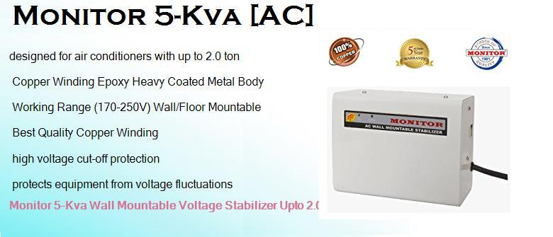Monitor 5 Kva Best Stabilizer for Haier 2 ton AC