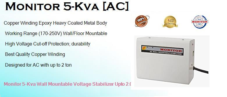 Monitor 5 Kva Best Monitor Wall Mounted AC Stabilizer for 2 ton Voltas AC