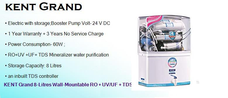 Best KENT RO UV/UF TDS Water Purifier 8 Litres