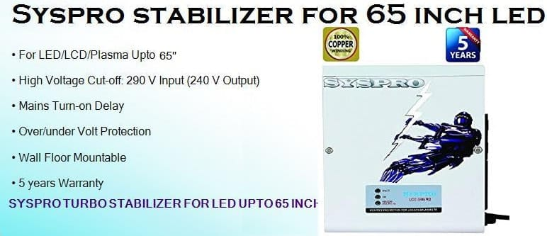 Syspro stabilizer for 65 inch led tv