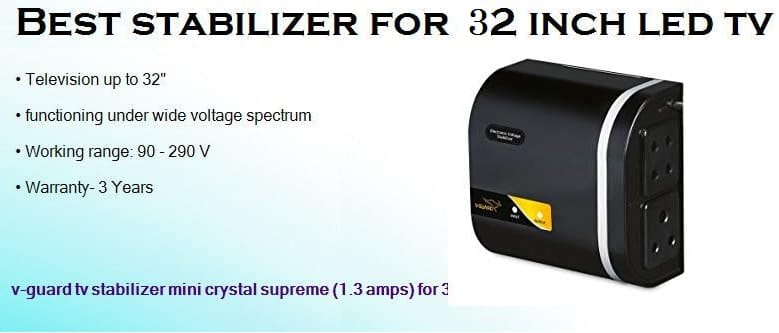 best stabilizer for 42 inch led tv