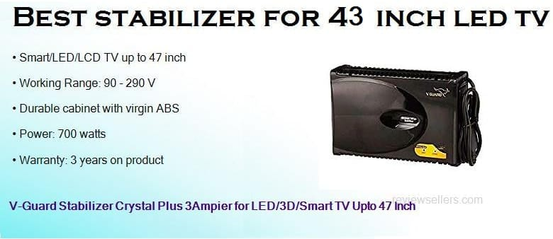 best stabilizer for 49 inch led tv