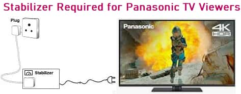 Stabilizer Required for Panasonic TV Viewers