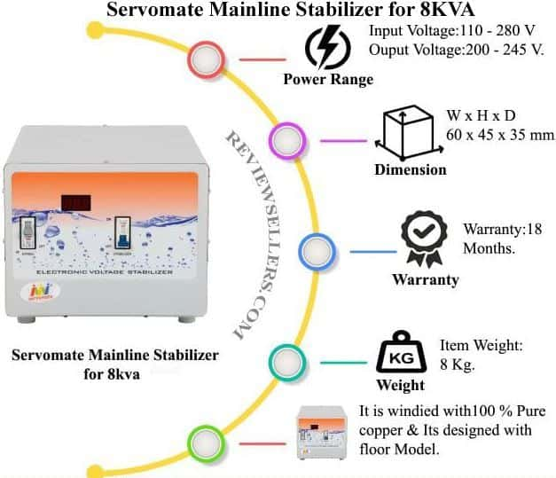 servomate mainline stabilizer for 8 kva
