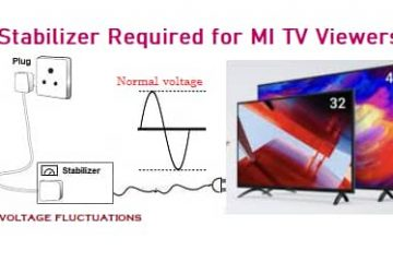 stabilizer required for mi tv