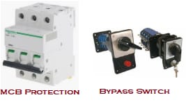 mcb protection & bypass switch