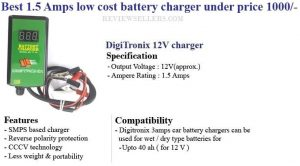 1.5 Amps low cost battery charger under price 1000