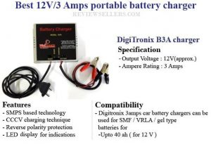 12V - 3 Amps portable battery charger
