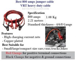 800 amps jumper cable VRT Heavy duty cable