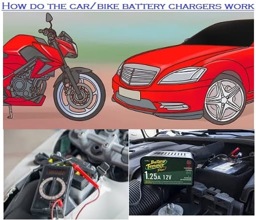 How do the car bike battery chargers work