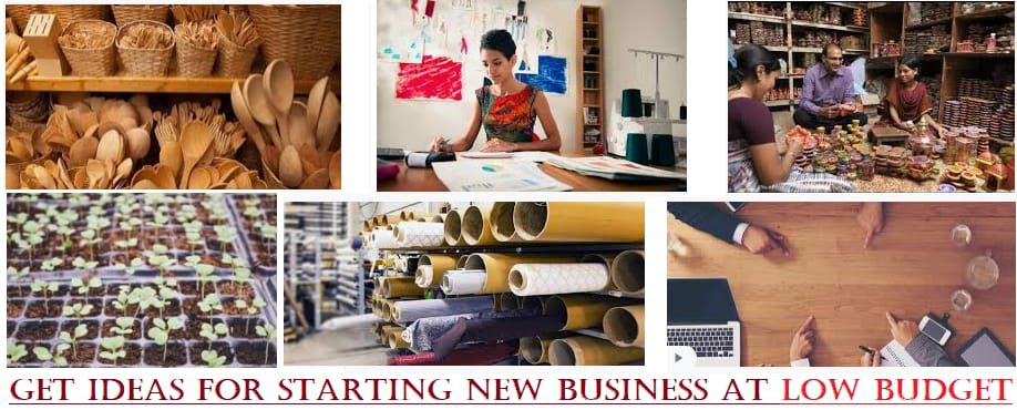 Get ideas for starting new business at low budget