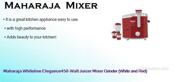 maharaja whiteline elegance450 watt juicer mixer grinder white and red